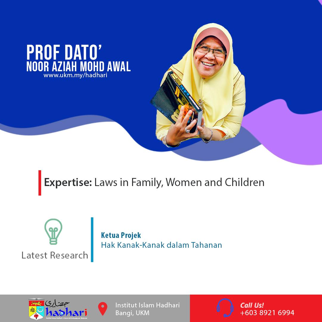 felo poster Prof. Dato' Noor Aziah Mohd Awal