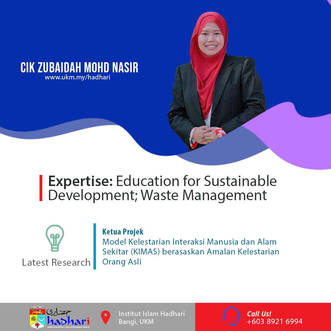 felo poster Cik Zubaidah Mohd Nasir