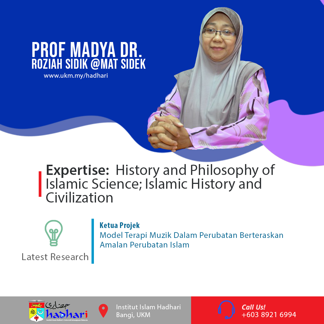 felo poster Prof. Madya Dr. Roziah Sidik @Mat Sidek
