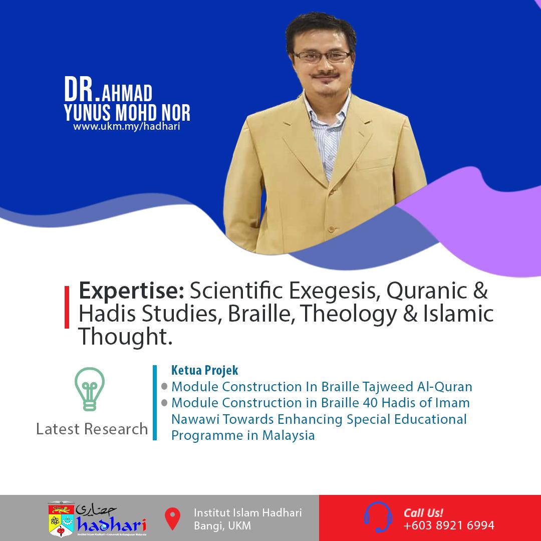 felo poster Dr Ahmad Yunus Mohd Nor