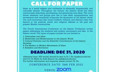 Call for Paper – 4th International Seminar of Islamic Civilization (ISIC 2021)