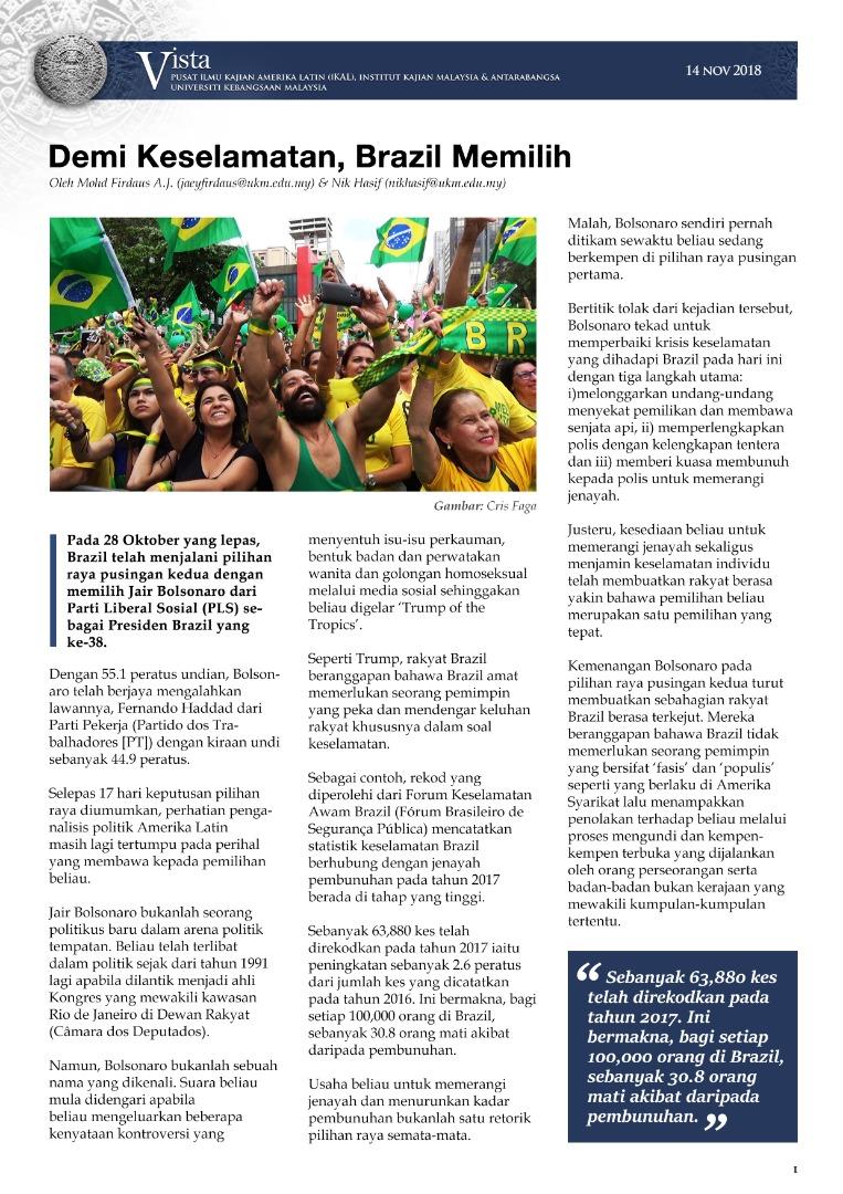 Demi Keselamatan, Brazil Memilih