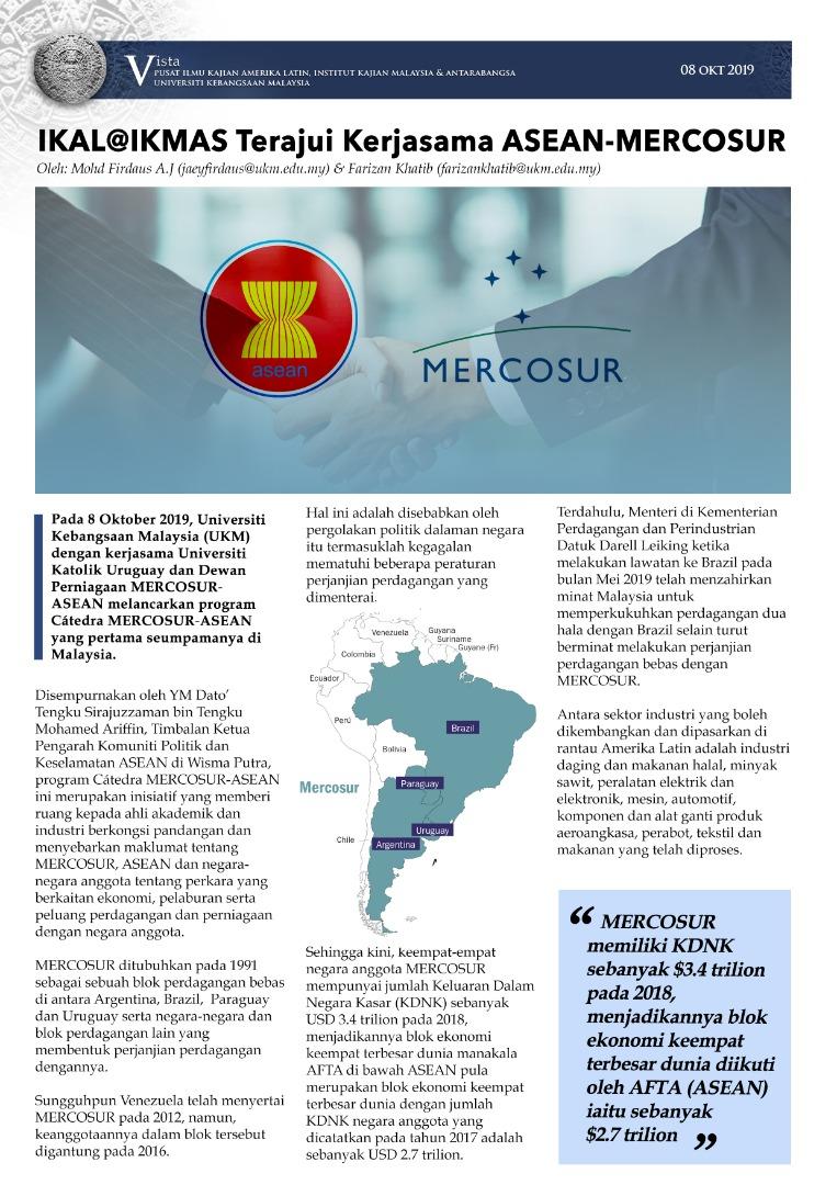 IKAL@IKMAS terajui kerjasama ASEAN-Mercosur