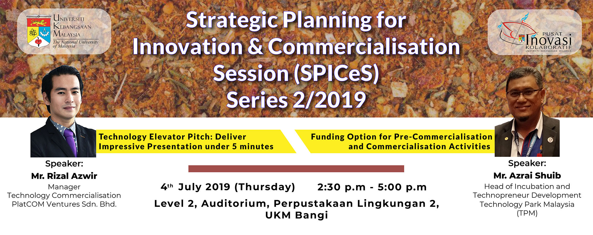 Strategic Planning for Innovation and Commercialisation Session Series 2/2019