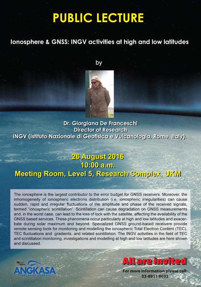 public lecture ionosphere
