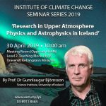Prof. Dr. Gunlaugur Bjornsson, Science Institute, University of Iceland