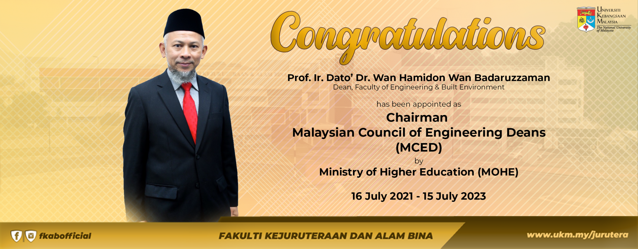 tahniah dekan MCED web BI