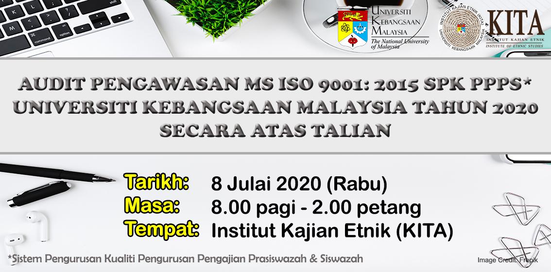 Audit Pengawasan MS ISO 9001: 2015 SPK PPPS secara atas talian