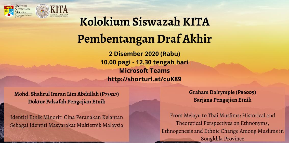 Kolokium Siswazah KITA Draf Akhir Shahrul & Graham