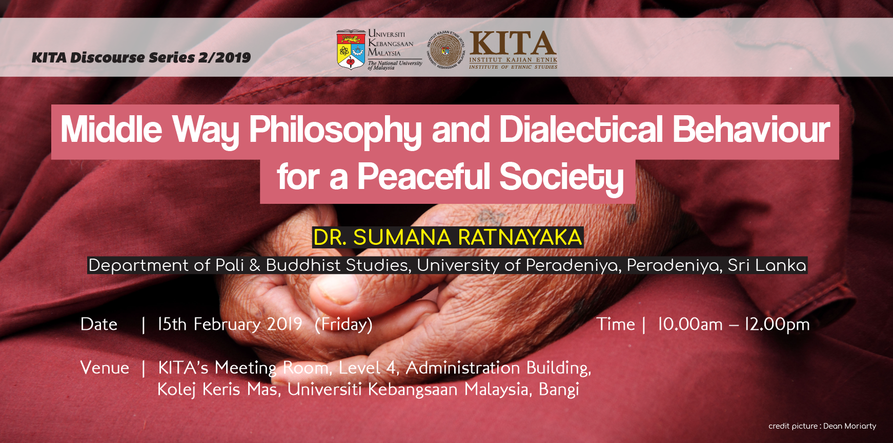 KITA Discourse Series 2/2019: Middle Way Philosophy and Dialectical Behaviour for a Peaceful Society