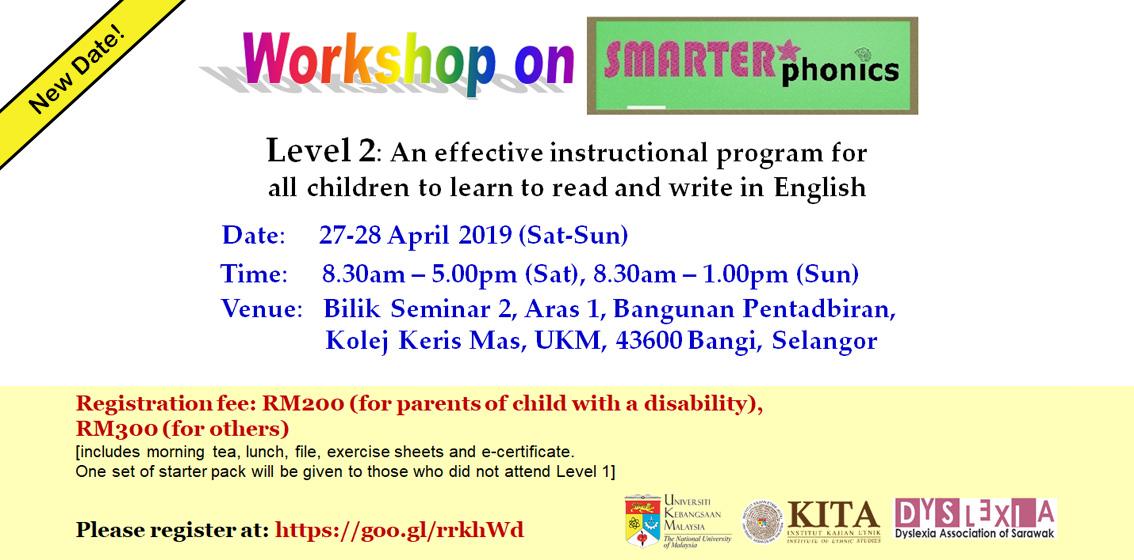 Workshop on SMARTER* Phonics (Level 2)