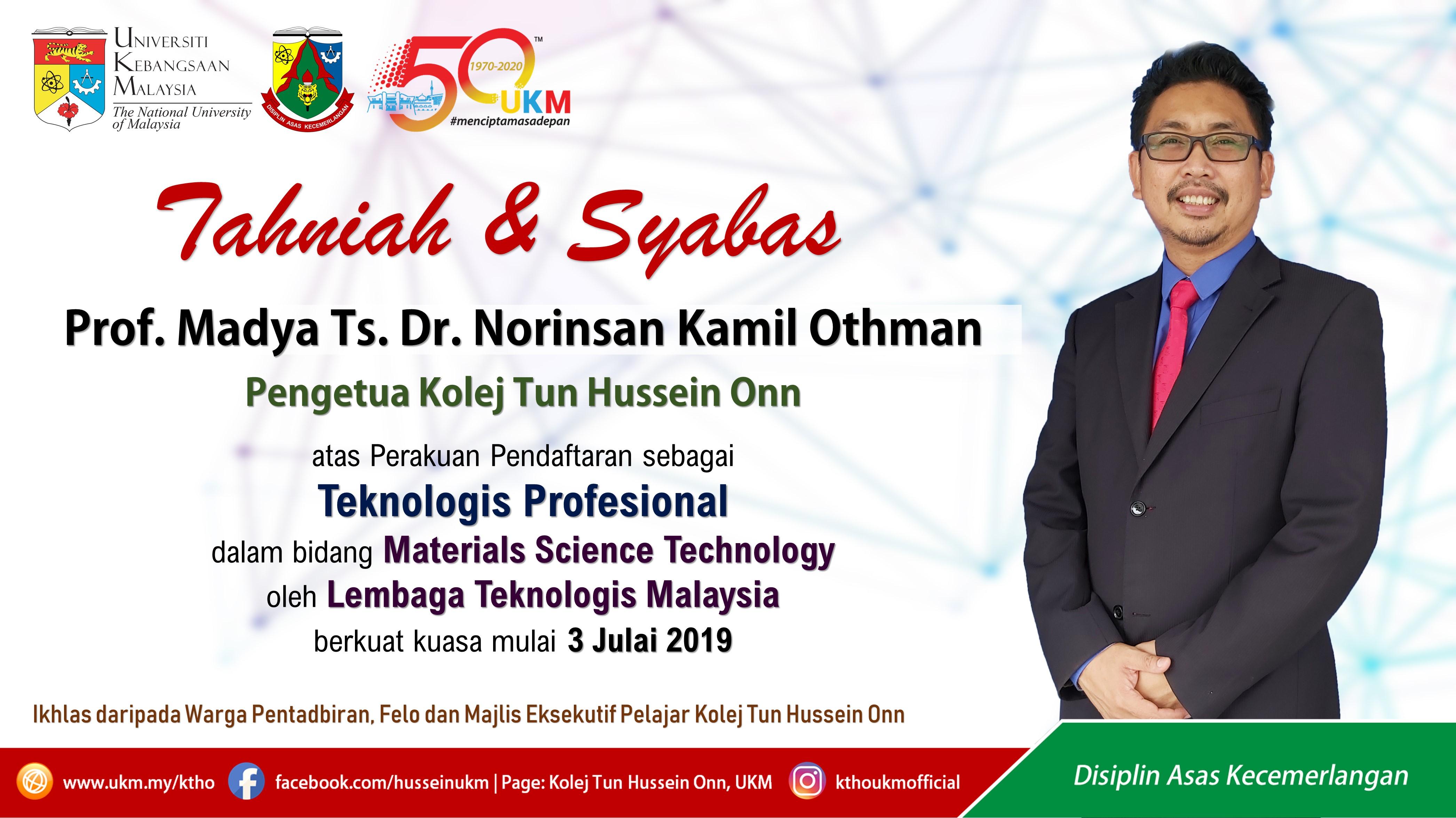 Tahniah Prof – Ts.