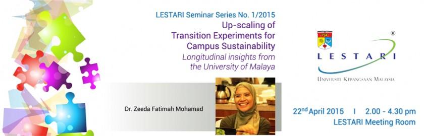 LESTARI Seminar Series No 1/2015