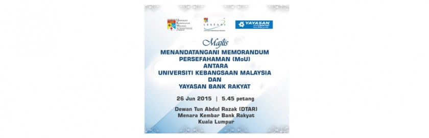 Majlis Menandatangani MoU antara UKM dan Yayasan Bank Rakyat