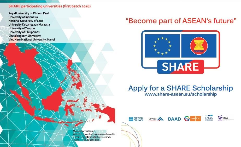 ASEAN-EU Scholarship 2017 (New Intake)