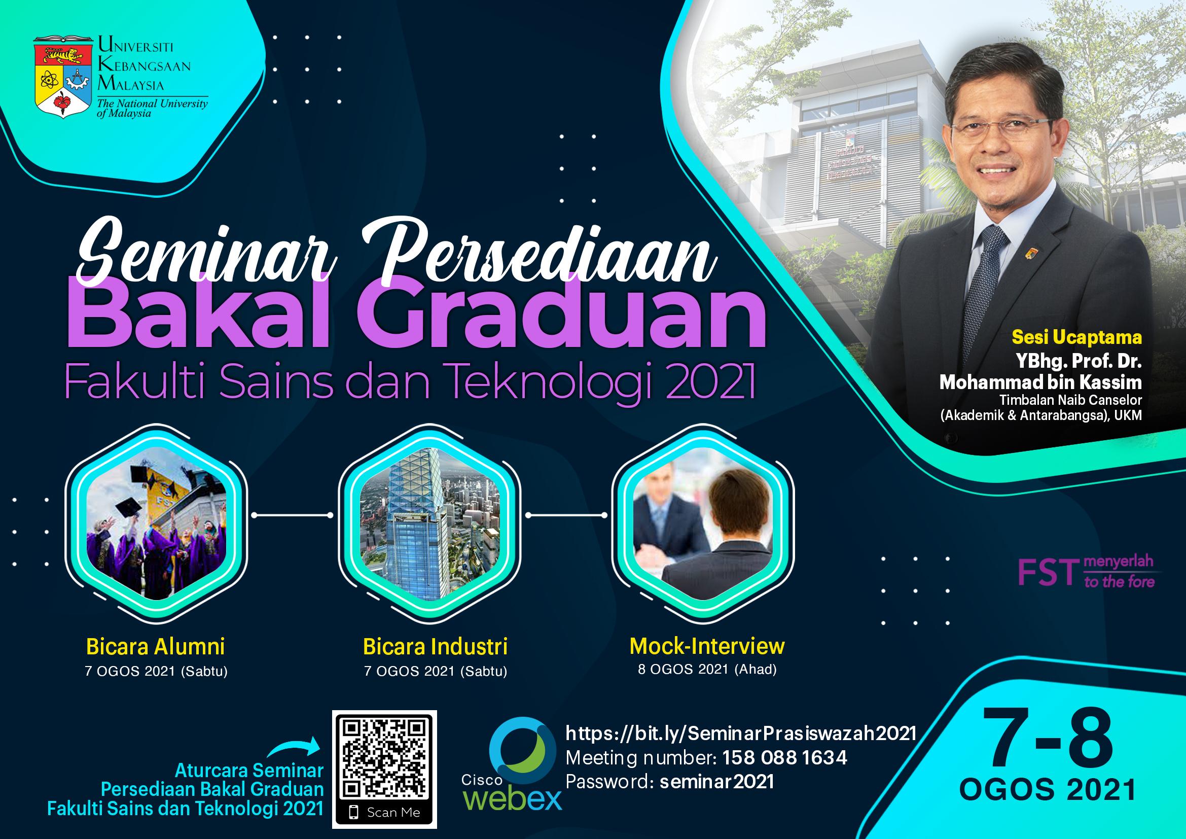 Poster Seminar Persediaan Bakal Graduan FST