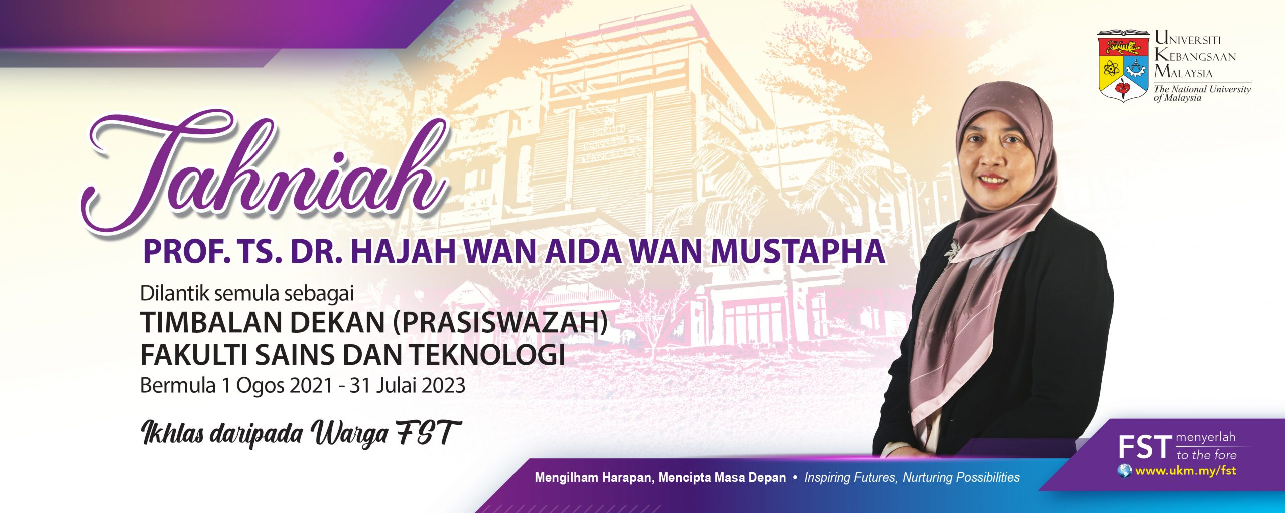 Tahniah Prof. Ts. Dr. Wan Aida