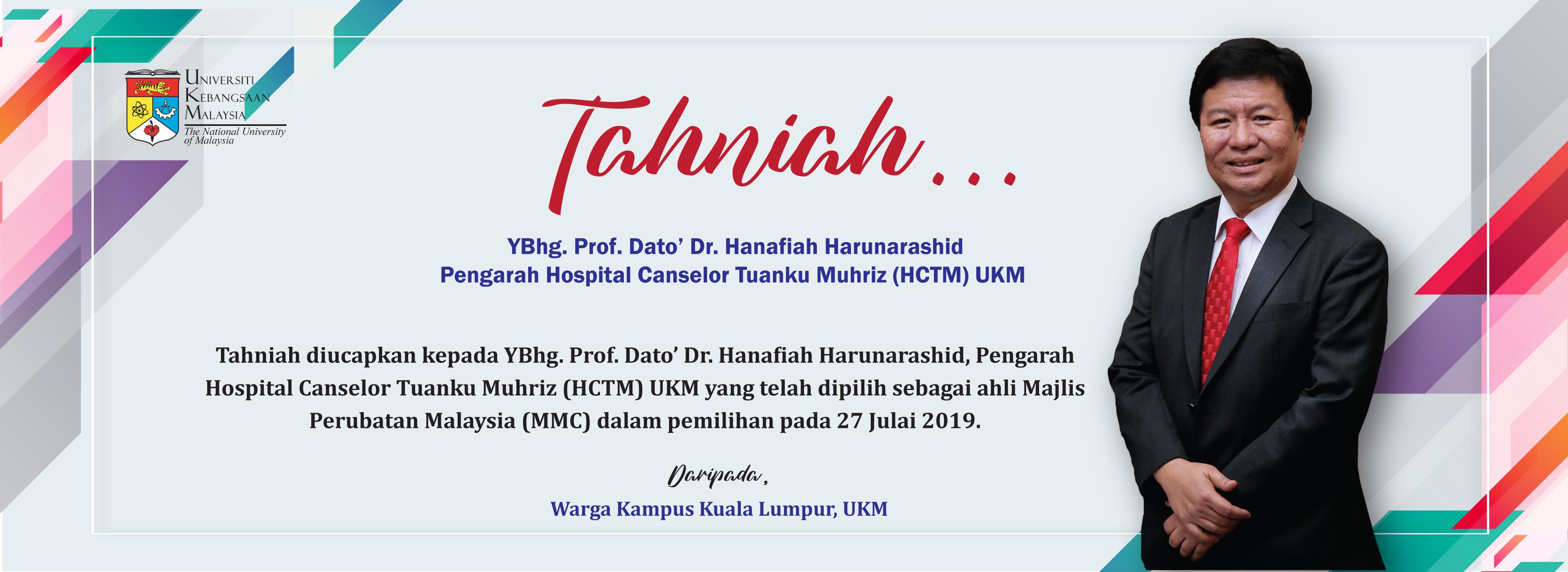 Tahniah Pengarah HCTM