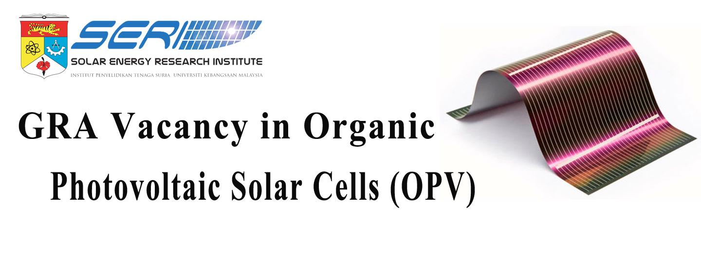 GRA Vacancy in Organic Photovoltaic Solar Cells (OPV)