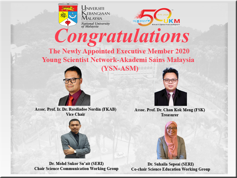 Two Academic Staff from SERI were Elected As a New Exco Member in YSN-ASM