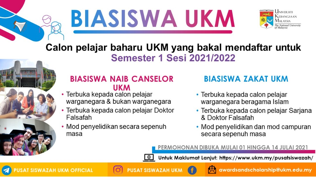 Biasiswa Naib Canselor UKM dan Biasiswa Zakat UKM