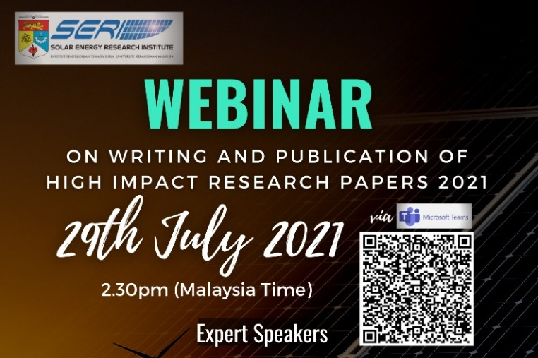 WEBINAR ON WRITING AND PUBLICATION OF HIGH IMPACT RESEARCH PAPERS