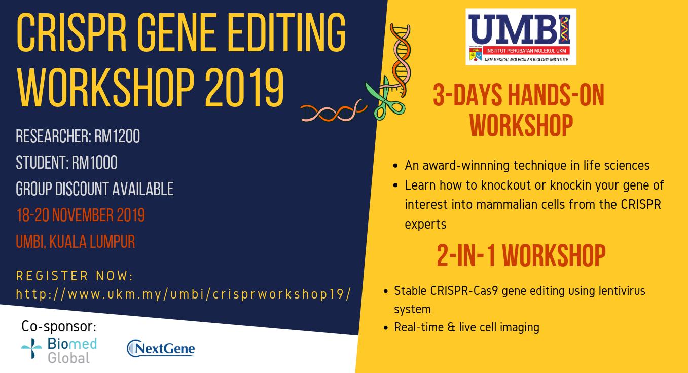 UMBI CRISPR GENE EDITING WORKSHOP 2019